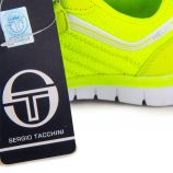 Baskets jaune fluo stk916291 Enfant SERGIO TACCHINI marque pas cher prix dégriffés destockage
