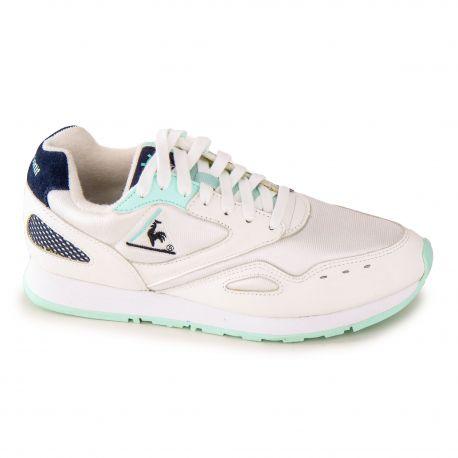 Baskets blanc/turquoise 1810726 Mixte LE COQ SPORTIF marque pas cher prix dégriffés destockage