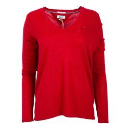 Pull rouge en laine Femme TOMMY HILFIGER