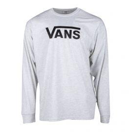 Tee shirt gris clair manches longues inscription Homme VANS marque pas cher prix dégriffés destockage