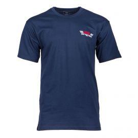 Tee shirt bleu foncé manches courtes Homme VANS marque pas cher prix dégriffés destockage