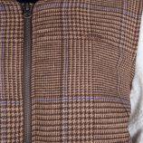 Veste teddy marron imprimé prince de Galles Femme VANS marque pas cher prix dégriffés destockage