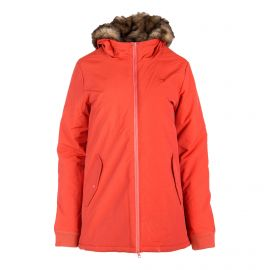 Parka orange à capuche Femme VANS marque pas cher prix dégriffés destockage