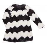 Veste en fausse fourrure noir et blanc Enfant GUESS