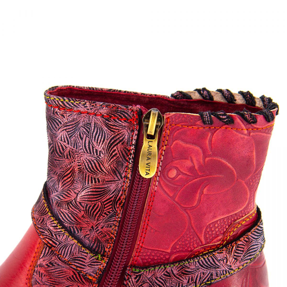 Bottines à talons rouge Gicrono 01 Femme LAURA VITA à prix