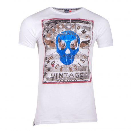 Tee shirt manches courtes massie Homme BLAGGIO marque pas cher prix dégriffés destockage