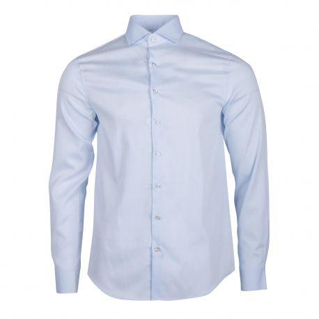 Chemise bleu clair cintrée manches longues Homme CALVIN KLEIN marque pas cher prix dégriffés destockage