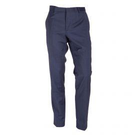 Pantalon de costume carreaux bleu foncé Homme CALVIN KLEIN marque pas cher prix dégriffés destockage