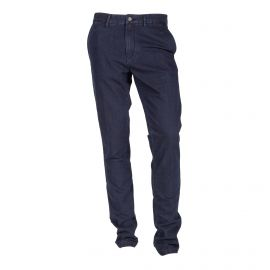 Pantalon bleu foncé slim fit stretch Homme TOMMY HILFIGER marque pas cher prix dégriffés destockage