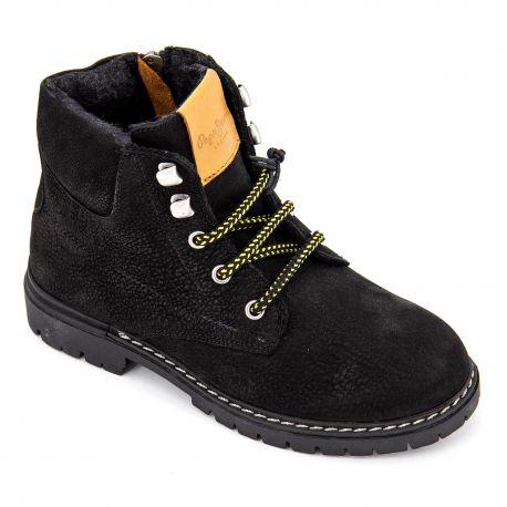 cuir JEANS à lacets Boots en noir PEPE Enfant TJ31cKlF