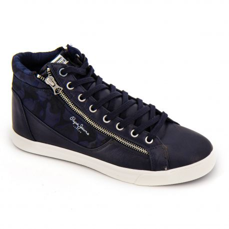 Basket montante pms50503 navy Homme PEPE JEANS