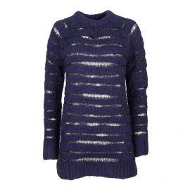Robe bleu foncé en maille manches longues Femme ZADIG & VOLTAIRE