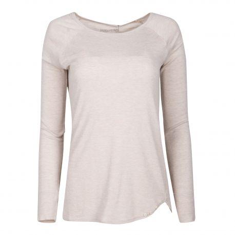 Tee-shirt beige manches longues Femme ZADIG & VOLTAIRE marque pas cher prix dégriffés destockage