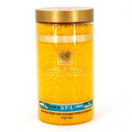Sel de bain jaune (1,2kg) Femme HEALTH & BEAUTY