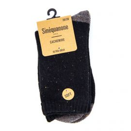 Chaussettes cornaline ultra doux cachemire Femme SINEQUANONE marque pas cher prix dégriffés destockage
