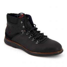 Boots cuir f0340 noir  Homme FLUCHOS