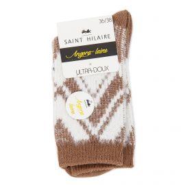 Chaussettes ultra douces angora/laine Tatiana Femme ST HILAIRE marque pas cher prix dégriffés destockage