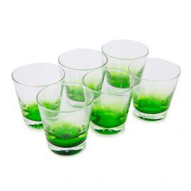 Lot de 6 verres bicolore 249 300 44  hauteur 9cm Mixte GUZZINI