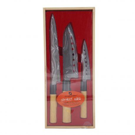 Coffret 3 couteaux 149998 ALBERT DE THIERS marque pas cher prix dégriffés destockage