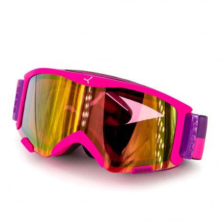 Masque ski rose Catégorie 2 temps nuageux Adulte CEBE marque pas cher prix dégriffés destockage