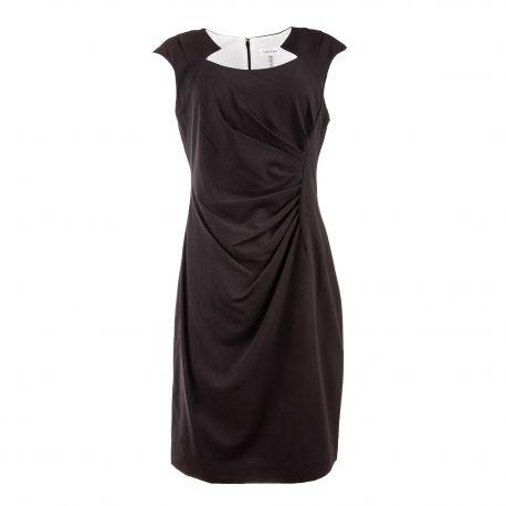 Robe sans manche drapée dos zippé Femme CALVIN KLEIN marque pas cher prix dégriffés destockage