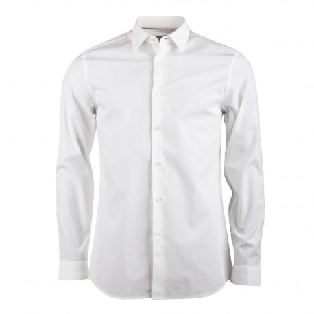 Chemise manches longues coton doux stretch Homme CALVIN KLEIN marque pas cher prix dégriffés destockage