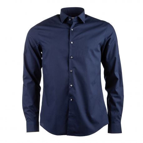 Chemise manches longues texturée coton doux stretch Homme CALVIN KLEIN marque pas cher prix dégriffés destockage