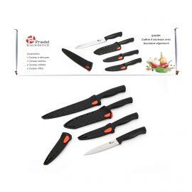Boite de 4 couteaux avec etuis aiguiseurs xh50ca PRADEL