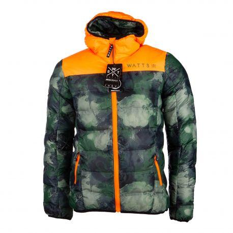 Doudoune camouflage Poop Homme WATTS marque pas cher prix dégriffés destockage