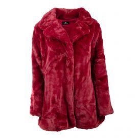 Manteau court avec col moutarde bouton 19211 Femme EMERAUDE marque pas cher prix dégriffés destockage