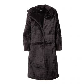 Manteau long avec col noir bouton 192902 Femme EMERAUDE marque pas cher prix dégriffés destockage