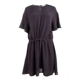 Robe manches courtes fluide taille ceinturée Femme AMERICAN VINTAGE marque pas cher prix dégriffés destockage