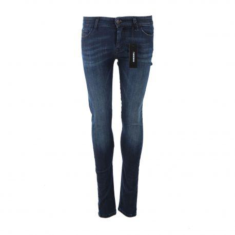 Jean Slandy super skinny stretch taille normale Femme DIESEL marque pas cher prix dégriffés destockage