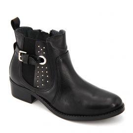 Bottes noires cuir kim 81181 Femme LOLA GONZALES