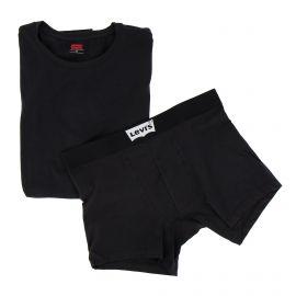 Ensemble tee shirt + boxer black Homme LEVI'S marque pas cher prix dégriffés destockage
