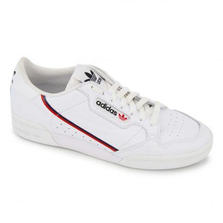 BASKETS BLANCHES CONTINENTAL 80 W G27706 Homme Adidas marque pas cher prix dégriffés destockage