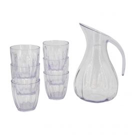 Set carafe + 6 verres transparent 288 17 600 Mixte GUZZINI
