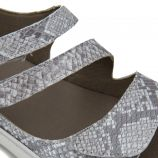 Sandales plates compensées f0550 brides python Femme FLUCHOS marque pas cher prix dégriffés destockage