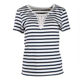 Tee shirt mc tc S19139f marinière lacée Femme BEST MOUNTAIN