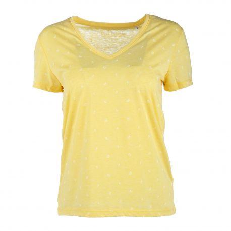 Tee shirt mc tc S19135f imprimé cerises Femme BEST MOUNTAIN marque pas cher prix dégriffés destockage
