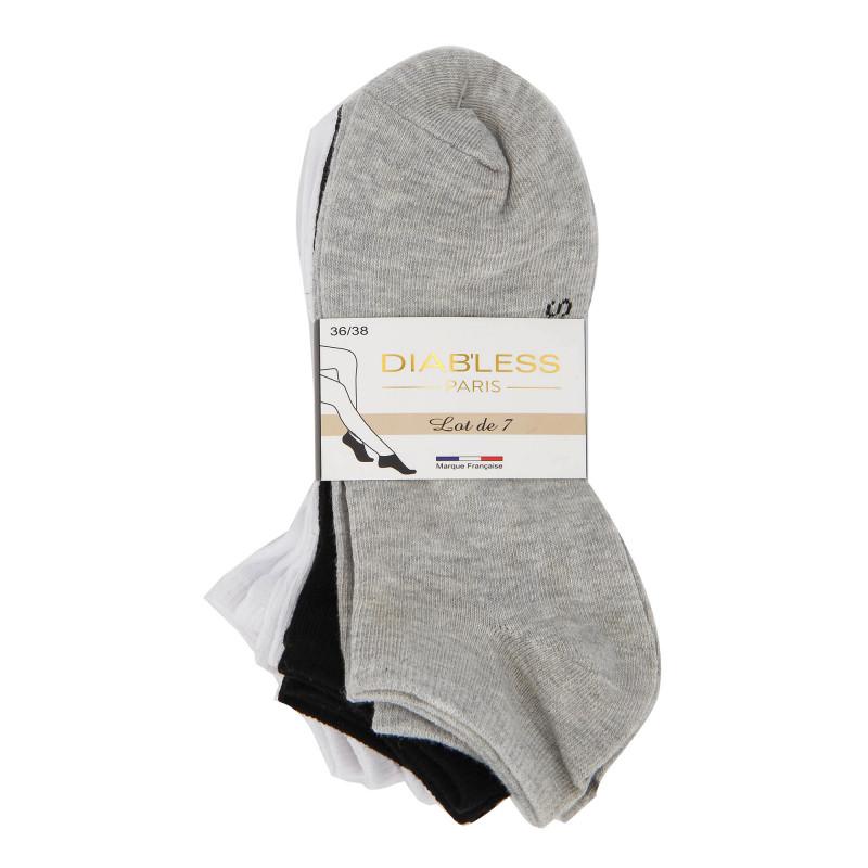 Socquettes x7 paires sabaya Femme DIAB'LESS marque pas cher prix dégriffés destockage