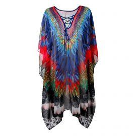 Robe multicolore stassée fluide plage Femme CARE OF YOU marque pas cher prix dégriffés destockage