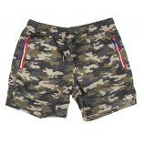 Short de bain zira imprimé militaire poches zippées tricolores Homme BLAGGIO