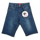 Bermuda jeans écusson logo dos brodé Enfant AEROPILOTE