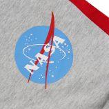 Bermuda sweat bicolore logo floqué Homme NASA marque pas cher prix dégriffés destockage