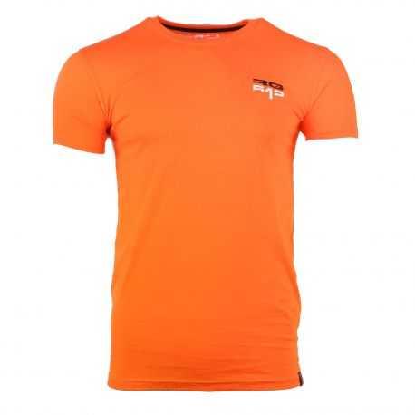 Tee shirt manches courtes col rond logo brodé Homme RG512 marque pas cher prix dégriffés destockage