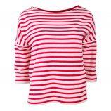 Tee shirt manches 3/4 raglan coton mix marinière Femme TOMMY HILFIGER
