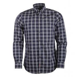 Chemise manches longues coton carreaux col boutonné Homme TOMMY HILFIGER marque pas cher prix dégriffés destockage
