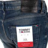Jean coton stretch slim effet rouille Scanton Homme TOMMY HILFIGER marque pas cher prix dégriffés destockage