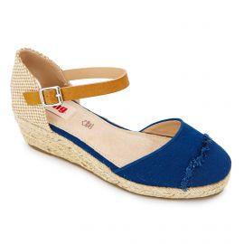 Sandales plates compensées semelle corde boucle Femme MTNG marque pas cher prix dégriffés destockage
